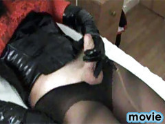 Yvette loves to play with her hard TGirl cock until she cums