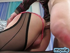 Submissive sissy guy humiliated and used as a sex pet by his cute lover-boy