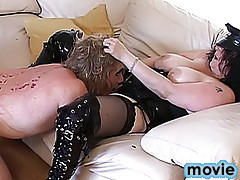Hot crossdressers in action on authentic sex video.