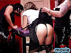 Unforgettably hot blonde crossdresser loses control on getting dick swallowed