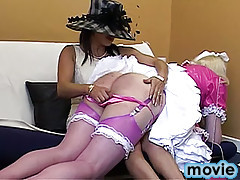 Very nasty crossdressers in kinky action