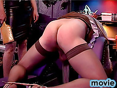 Freaky domination action with two horny transvestites