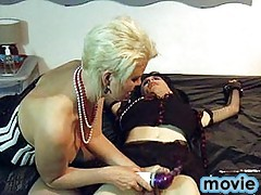 This CD slut gets her cock punished by Mistress Helga