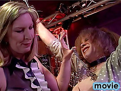 Domination action with two horny crossdressers