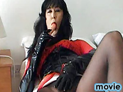 Yvette loves sucking on her toys and getting all horny