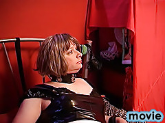 Mistress makes her male slave dress like a sexy fetish maid