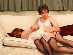 Lucimay is on her mistress' knees and getting that round ass of hers nice and spanked.