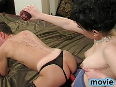 Cheating boyfriend gets mercilessly punished by his dominant girlfriend