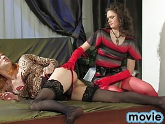 Merciless dominatrix plays every cruel scenario born by her twisted mind